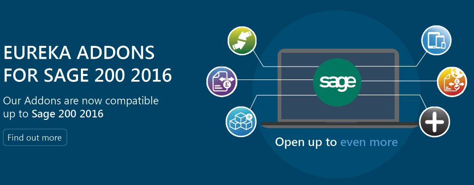 Eureka Addons are Ready for Sage 200 2016