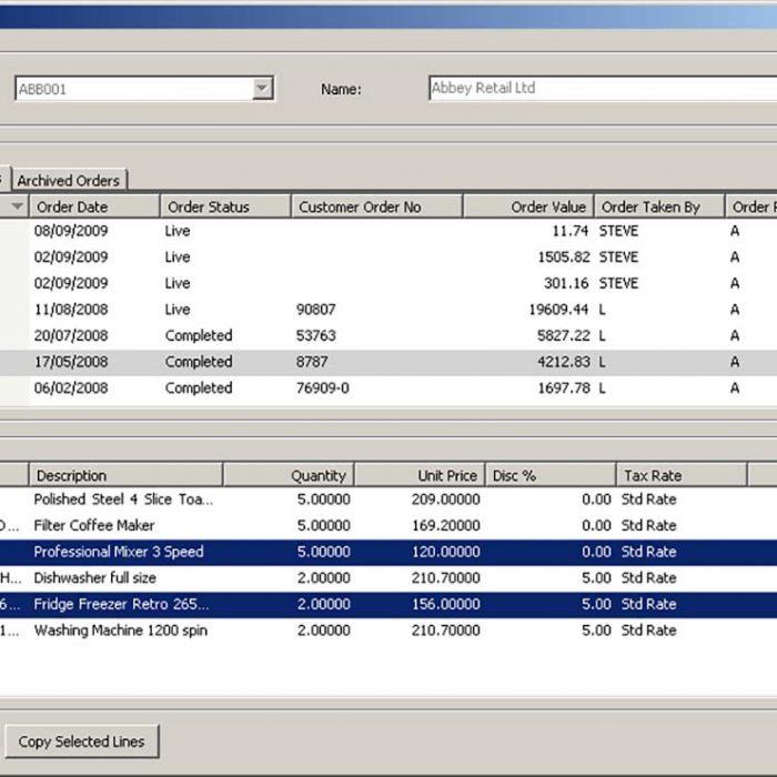 Enhance Sage 200 Plus Pack for Sage 200 Order History Eureka Addons