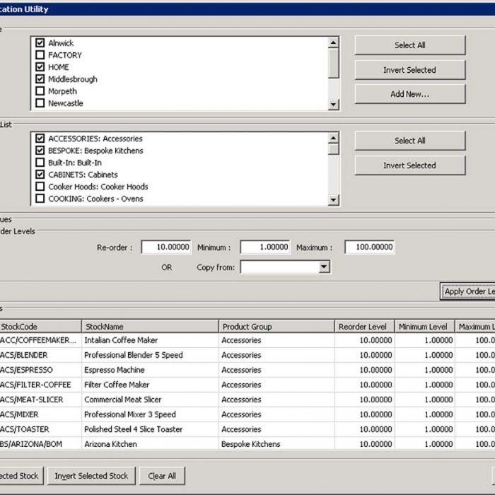 Enhance Sage 200 Plus Pack for Sage 200 Stock Location Utility Eureka Addons